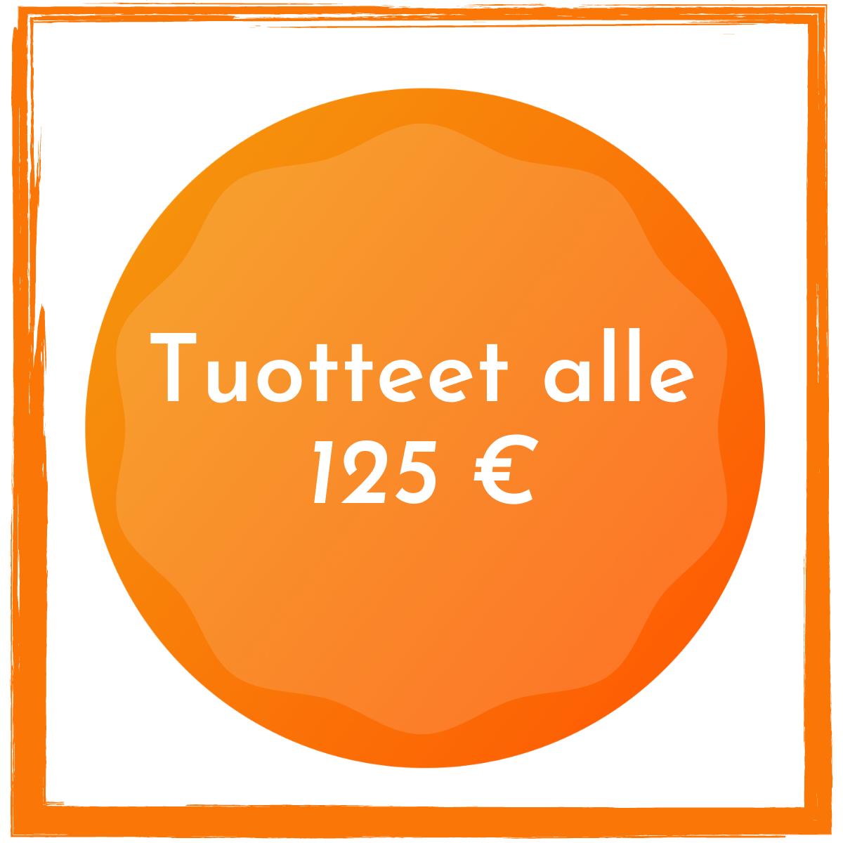 Alle 125 euroa