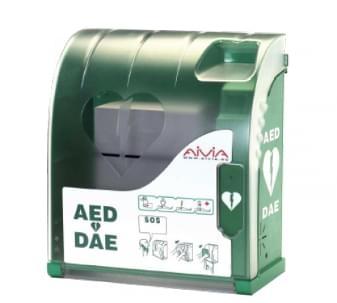 Defibrillaattori - kaapit ja telineet
