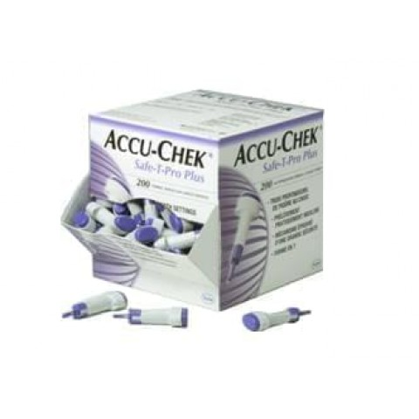 Accu-Chek Safe-T-Pro Plus lansetit 200 kpl