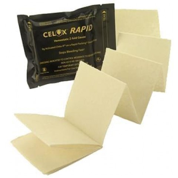Celox Rapid Z-Fold Gauze -hemostaatti