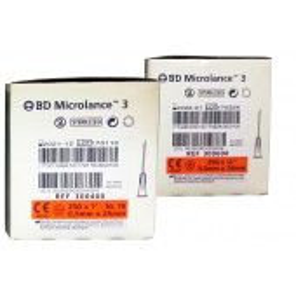BD Microlance 3 injektioneula, 25 G, oranssi