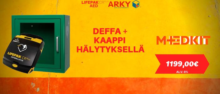 Lifepak CR Plus AED + ARKY AED -defibrillaattorikaappi tarjous