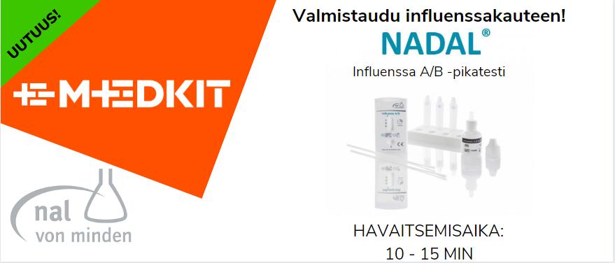 nal von minden NADAL Influenssa A/B -pikatesti