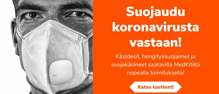 Suojaudu koronavirusta vastaan! Käsidesit, hengityssuojaimet ja suojakäsineet nopealla toimituksella MedKitiltä!