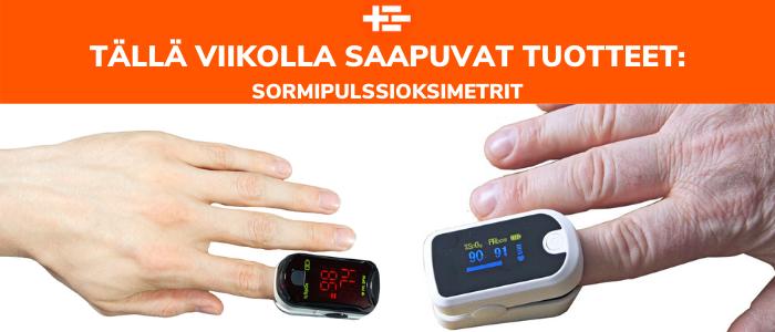 Tällä viikolla saapuvat tuotteet: Sormipulssioksimetrit! Laadukkaat Boscarol ja Medical Econet sormipulssioksimetrit saapuvat varastoomme.